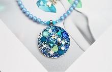 """0100 Колие """"Blue aqua"""""""