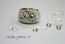 137 Пръстен с кристали  Swarovski elements
