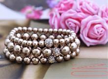 """0027 Гривна """"Bronze pearls"""""""