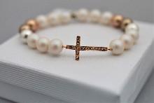 "0111 Гривна ""Rose gold cross"""
