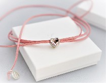 """0033 Колие """"Чоукър розово сърце"""""""